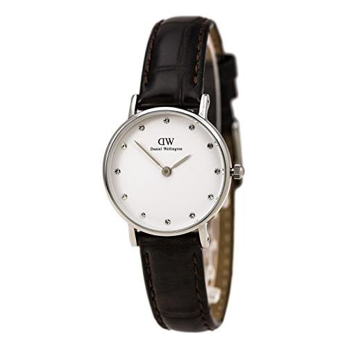 Daniel Wellington Analog Quarz One Size weiss dunkelbraun DW00100069