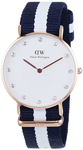 Daniel Wellington XS Classy Glasgow LADY ROSEGOLD Analog Quarz Nylon DW00100078