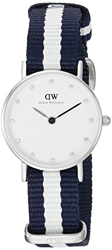 Daniel Wellington XS Classy Glasgow LADY SILVER Analog Quarz Nylon DW00100074