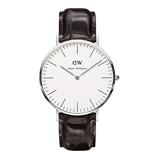 Daniel Wellington Analog Quarz One Size weiss dunkelbraun DW00100025