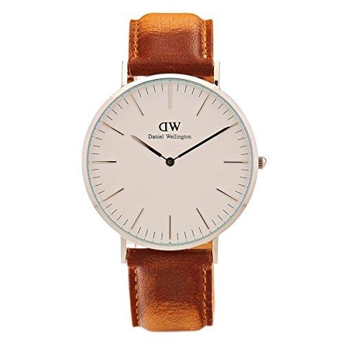 Daniel Wellington Herren Armbanduhr Analog Quarz Leder DW00100110