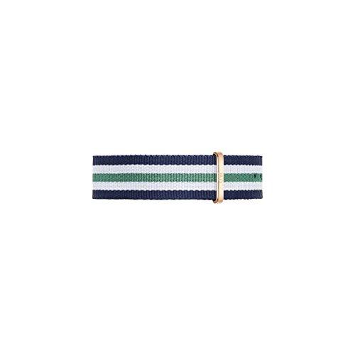 Daniel Wellington Armband Nottingham blau weiss gruen Herren Textilarmband NEU