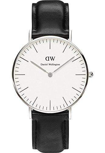 Daniel Wellington Damen-Armbanduhr Analog Quarz One Size, weisssilber, schwarz
