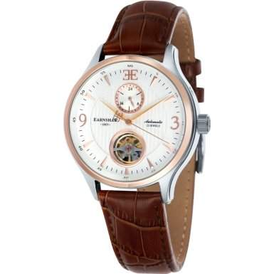 Thomas Earnshaw Flinders 42mm Mens Leather Strap Watch - ES-8023-05