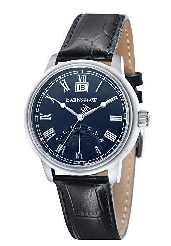 Thomas Earnshaw-es-8033-02-Cornwall-Zeigt Herren-Armbanduhr 10510262Analog Leder Schwarz