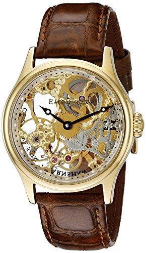 Thomas Earnshaw Herren es 8049 02 Bauer Edelstahl Skelett Mechanische Armbanduhr aufziehbar