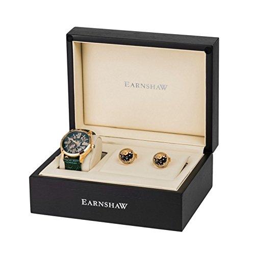 Thomas Earnshaw Armagh Analog Automatisch Earnshaw Passenden Manschettenknoepfen und Luxus Geschenk box ES 8037 SETA 01