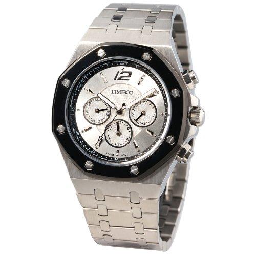 Time100 Klassische Uhrmeister Serie Hochwertige Multifunktion Edelstahl mit Butterfly Faltschliesse W70039G 01A