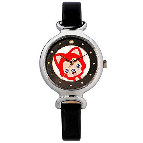 Time100 NEU Cartoon a li analoges Quarzwerk Kinderuhr echtes Lederband Schwarz W30002L 02A