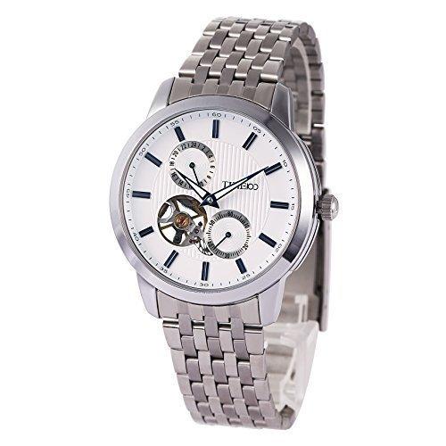 TIME100 Runde Chronograph mechanisch Edelstahl Weiss W60029G 01A