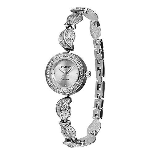 Time100 moderne Armbanduhr Quarzuhr Edelstahl weiss W40121L 02A