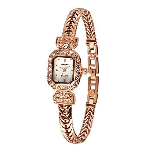 Time100 Armbanduhr Quarzuhr Edelstahl Rosagold W40122L 02A
