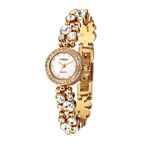 Time100 Armbanduhr Quarzuhr Edelstahl Gold W50120L 05A