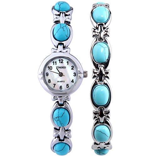 Time100 Armbanduhr Quarzuhr Edelstahl Blau W50130L 01A