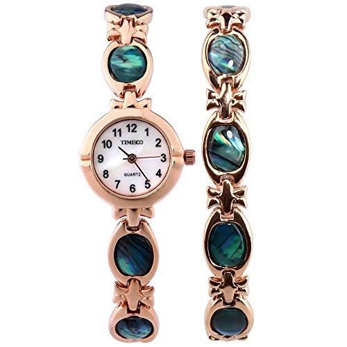 Time100 Armbanduhr Quarzuhr Edelstahl Gold W50130L 02A