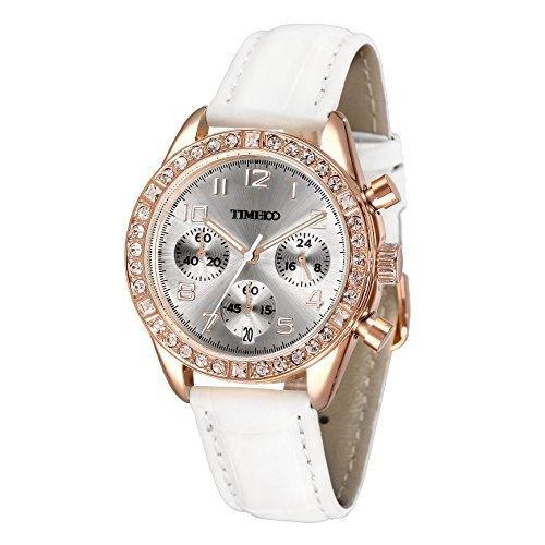 Time100 Armbanduhr Quarzuhr Kinderuhr Leder W50298L 02A