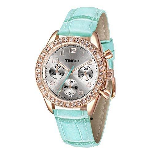 Time100 Armbanduhr Quarzuhr Kinderuhr Leder W50298L 03A