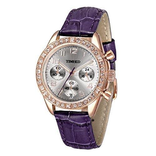 Time100 Armbanduhr Quarzuhr Kinderuhr Leder W50298L 07A