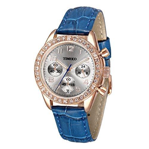 Time100 Armbanduhr Quarzuhr Kinderuhr Leder W50298L 08A