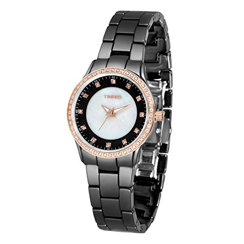 Time100 Armbanduhr Quarzuhr Keramik Band W50375L 03A