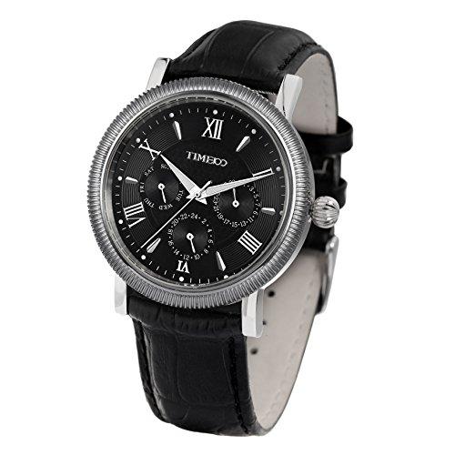 Time100 Armbanduhr Quarzuhr Chronographuhr schwarz W80060G 01A