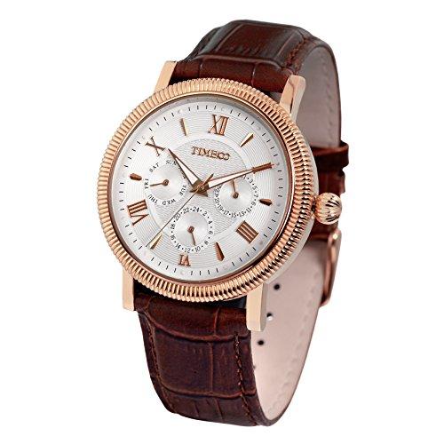 Time100 Armbanduhr Quarzuhr Chronographuhr rosegold W80060G 03A