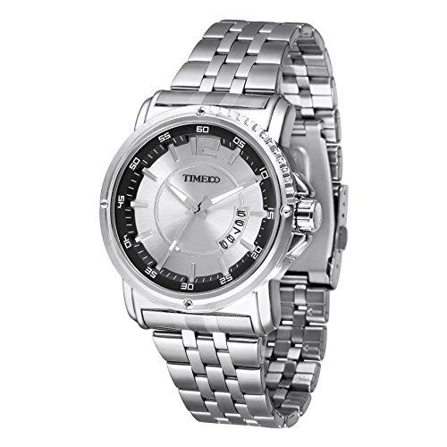 Time100 moderne Armbanduhr Quarzuhr mit Kalender W50307G 01A
