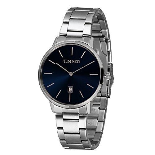 Time100 moderne Armbanduhr Quarzuhr mit Kalender W50418G 01A