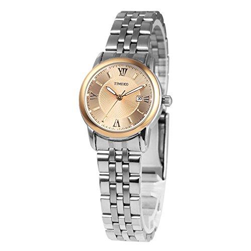 Time100 Armbanduhr Paaruhren Quarzuhr Leder W80069L 03A