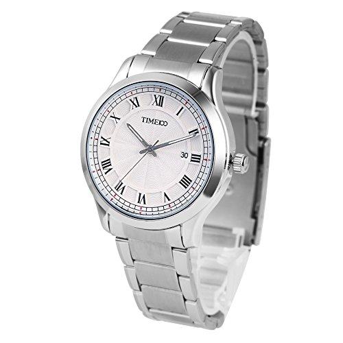 Time100 Armbanduhr Paaruhren Quarzuhr mit Kalender W80070G 02A