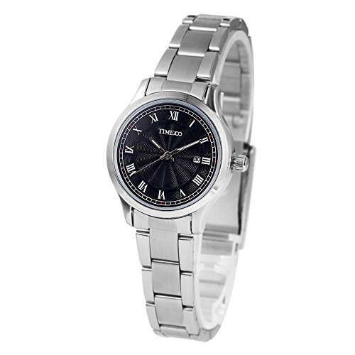 Time100 Armbanduhr Paaruhren Quarzuhr Edelstahl Schwarz W80070L 01A