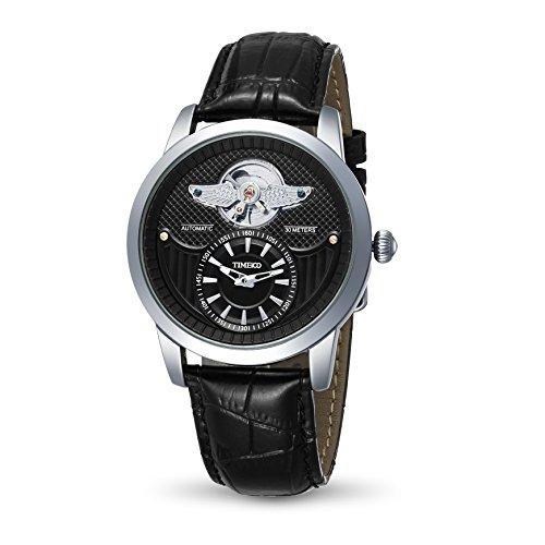 Time100 Armee Serien Armbanduhr Mechanical Uhr Leder W70052G 01A