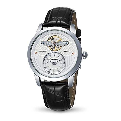 Time100 Armee Serien Armbanduhr Mechanical Uhr Leder W70052G 02A