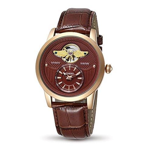 Time100 Armee Serien Armbanduhr Mechanical Uhr Leder W70052G 03A