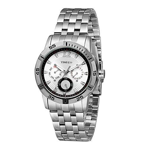 Time100 Chronographuhr Armbanduhr Quarzuhr mit Kalender W50311G 01A