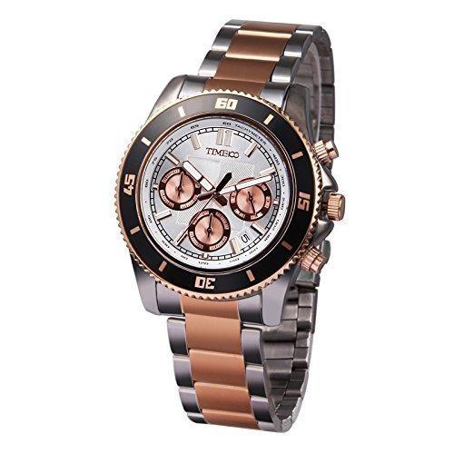 Time100 Chronographuhr Armbanduhr Quarzuhr W70081G 03A