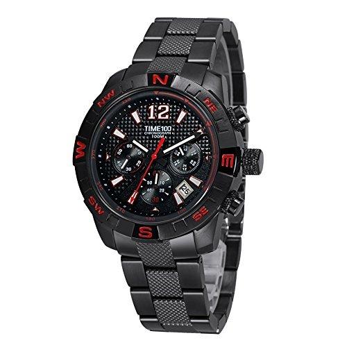 Time100 Chronographuhr Armbanduhr Quarzuhr mit Kalender W70100G 02A