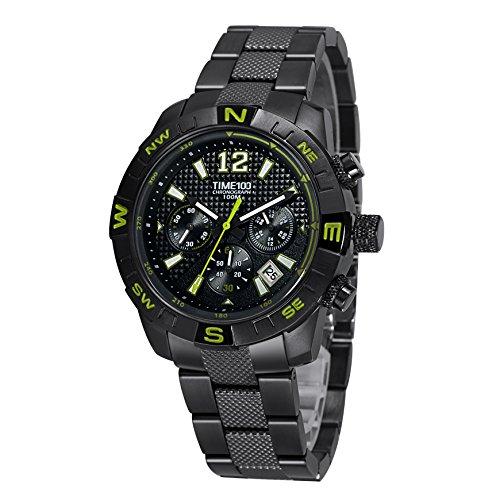 Time100 Chronographuhr Armbanduhr Quarzuhr mit Kalender W70100G 04A