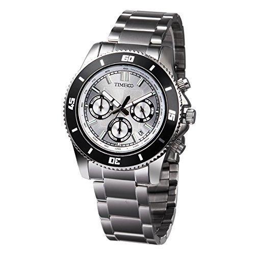 Time100 Chronographuhr Armbanduhr Quarzuhr WW70081G 02A