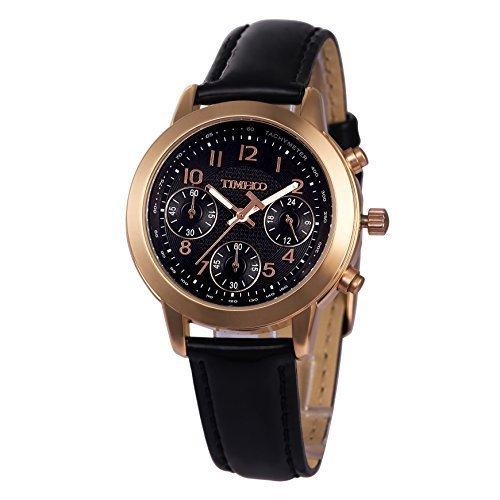 Time100 uhr Armbanduhr Quarzuhr schwarz Leder W70073L 03A