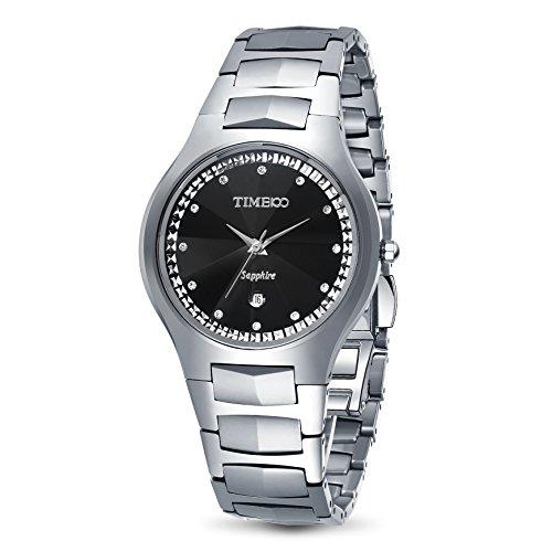 TIME100 Liebhaber Diamant Wolfram Stahl Saphirglas Analog W50107L 01A