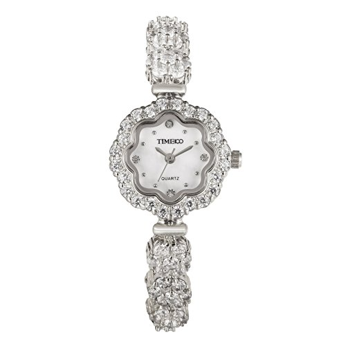 Time100 dekoratives Zifferblatt kuerzerer Band Armbanduhr Quarz Analog Uhr Silber W50532L 01A