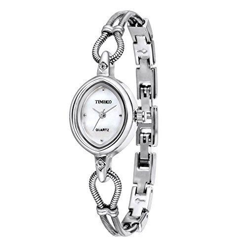 Time100 Silber Edelstahl keines Gehaeuse Quarzuhr W40123L 01A