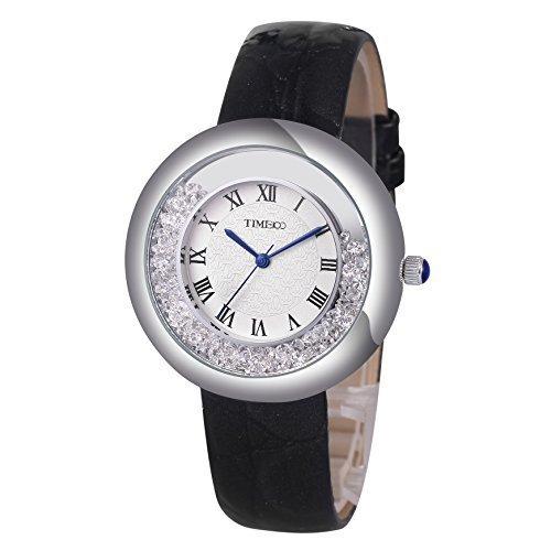 Time100 Retro Quarzuhr Kinderuhr Leder rund W50274L 01A
