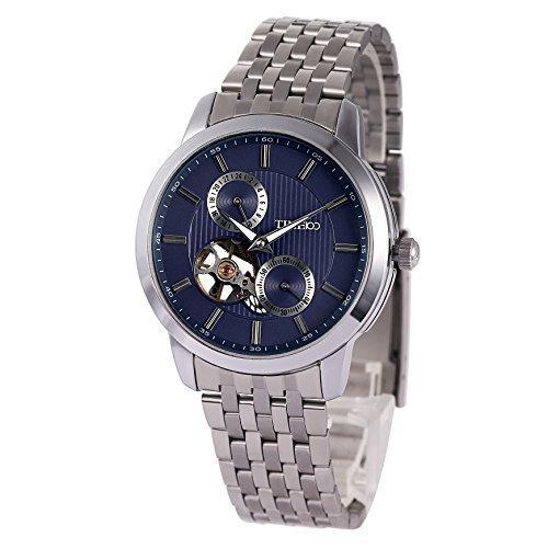 TIME100 Runde Chronograph mechanisch Edelstahl Blau W60029G 02A