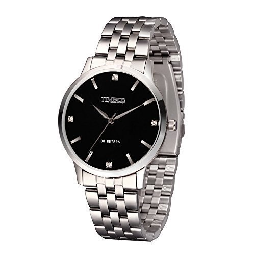 Time100 Analog Chronographuhr Qaurzuhr Edelstahl Uhr W80077G 01A