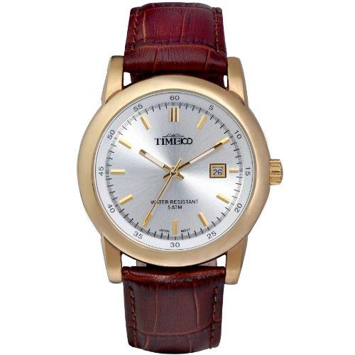 Time100 Klassische Business mit Lederband und Kalenderfunktion W70005G 02A