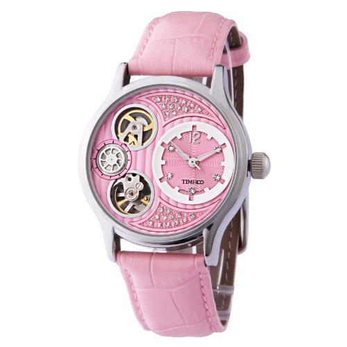 TIME100 Quarzuhr Leder Pink W60013M 02A