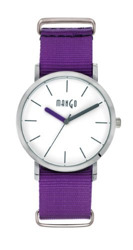 Mango Time Oxford Analog Quarz Nylon Violett A68376 2S0I