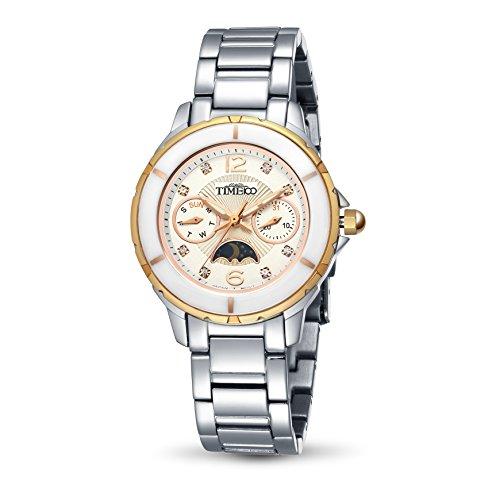 Time100 Multifunktion mit Keramiken Luenette und Tag Nacht Anzeige Rosagold W80028M 03A